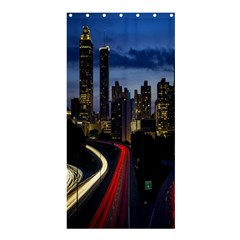 Building And Red And Yellow Light Road Time Lapse Shower Curtain 36  X 72  (stall)