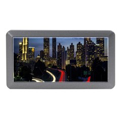 Building And Red And Yellow Light Road Time Lapse Memory Card Reader (mini)