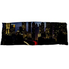Building And Red And Yellow Light Road Time Lapse Body Pillow Case (dakimakura)