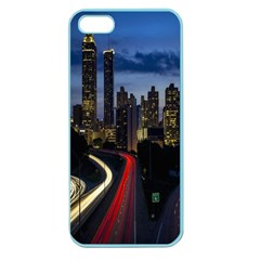 Building And Red And Yellow Light Road Time Lapse Apple Seamless Iphone 5 Case (color)
