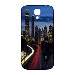 Building And Red And Yellow Light Road Time Lapse Samsung Galaxy S4 I9500/i9505  Hardshell Back Case