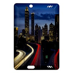 Building And Red And Yellow Light Road Time Lapse Amazon Kindle Fire Hd (2013) Hardshell Case by Nexatart