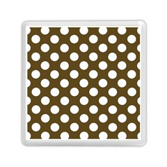 Brown Polkadot Background Memory Card Reader (Square)  by Nexatart