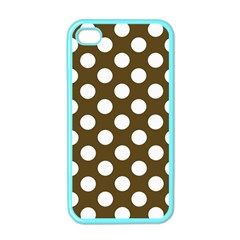 Brown Polkadot Background Apple Iphone 4 Case (color)