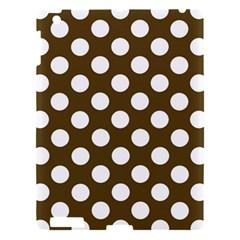 Brown Polkadot Background Apple Ipad 3/4 Hardshell Case