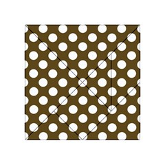 Brown Polkadot Background Acrylic Tangram Puzzle (4  X 4 )