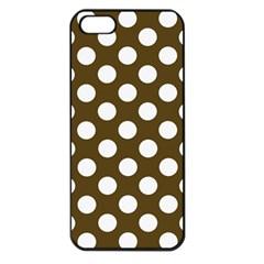 Brown Polkadot Background Apple Iphone 5 Seamless Case (black)