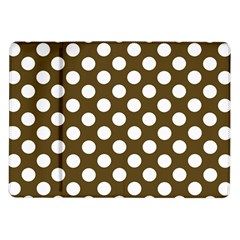 Brown Polkadot Background Samsung Galaxy Tab 10 1  P7500 Flip Case