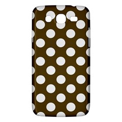 Brown Polkadot Background Samsung Galaxy Mega 5 8 I9152 Hardshell Case