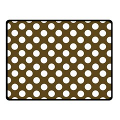 Brown Polkadot Background Double Sided Fleece Blanket (small)