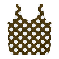 Brown Polkadot Background Full Print Recycle Bags (l)