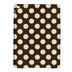 Brown Polkadot Background Ipad Air 2 Hardshell Cases