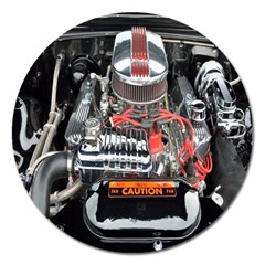 Car Engine Magnet 5  (round)