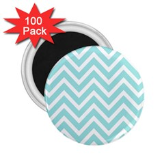 Chevrons Zigzags Pattern Blue 2 25  Magnets (100 Pack)  by Nexatart