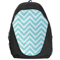 Chevrons Zigzags Pattern Blue Backpack Bag