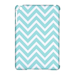 Chevrons Zigzags Pattern Blue Apple Ipad Mini Hardshell Case (compatible With Smart Cover) by Nexatart