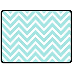Chevrons Zigzags Pattern Blue Double Sided Fleece Blanket (large)