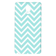 Chevrons Zigzags Pattern Blue Galaxy Note 4 Back Case