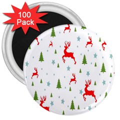 Christmas Pattern 3  Magnets (100 Pack) by Nexatart