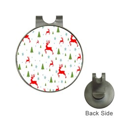 Christmas Pattern Hat Clips With Golf Markers by Nexatart
