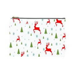 Christmas Pattern Cosmetic Bag (large)