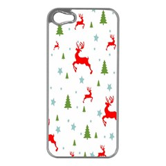 Christmas Pattern Apple Iphone 5 Case (silver)