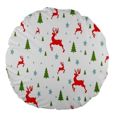 Christmas Pattern Large 18  Premium Round Cushions by Nexatart