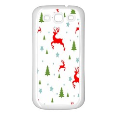 Christmas Pattern Samsung Galaxy S3 Back Case (white)
