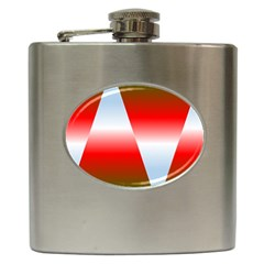 Christmas Pattern Hip Flask (6 Oz)