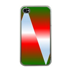 Christmas Pattern Apple Iphone 4 Case (clear)