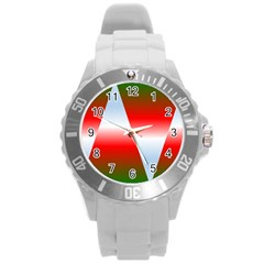 Christmas Pattern Round Plastic Sport Watch (l)
