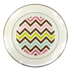 Chevrons Stripes Colors Background Porcelain Plates by Nexatart