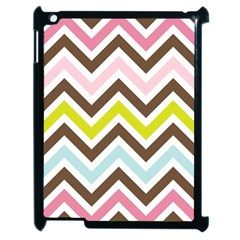 Chevrons Stripes Colors Background Apple Ipad 2 Case (black)