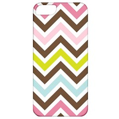 Chevrons Stripes Colors Background Apple Iphone 5 Classic Hardshell Case by Nexatart