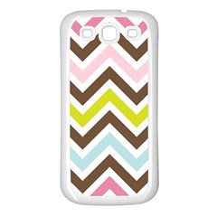 Chevrons Stripes Colors Background Samsung Galaxy S3 Back Case (white)