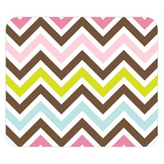 Chevrons Stripes Colors Background Double Sided Flano Blanket (small)  by Nexatart