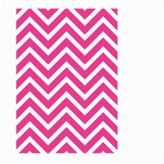 Chevrons Stripes Pink Background Large Garden Flag (two Sides)