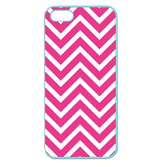 Chevrons Stripes Pink Background Apple Seamless Iphone 5 Case (color)