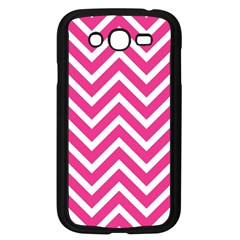 Chevrons Stripes Pink Background Samsung Galaxy Grand DUOS I9082 Case (Black) by Nexatart