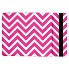 Chevrons Stripes Pink Background Ipad Air Flip by Nexatart