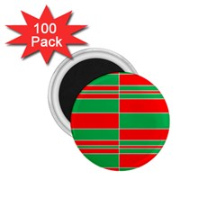 Christmas Colors Red Green 1 75  Magnets (100 Pack)  by Nexatart