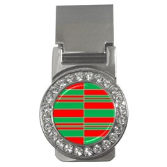 Christmas Colors Red Green Money Clips (CZ)  by Nexatart