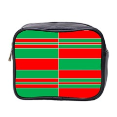 Christmas Colors Red Green Mini Toiletries Bag 2 Side