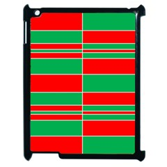 Christmas Colors Red Green Apple Ipad 2 Case (black)