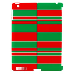 Christmas Colors Red Green Apple Ipad 3/4 Hardshell Case (compatible With Smart Cover) by Nexatart