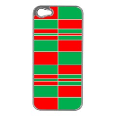 Christmas Colors Red Green Apple Iphone 5 Case (silver)