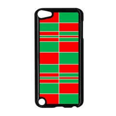 Christmas Colors Red Green Apple Ipod Touch 5 Case (black) by Nexatart