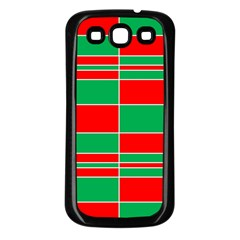Christmas Colors Red Green Samsung Galaxy S3 Back Case (black)