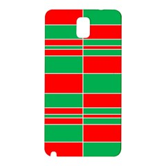 Christmas Colors Red Green Samsung Galaxy Note 3 N9005 Hardshell Back Case by Nexatart