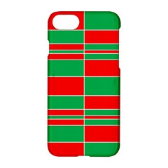 Christmas Colors Red Green Apple Iphone 7 Hardshell Case by Nexatart